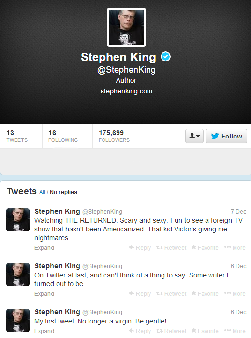 Stephen King  StephenKing  on Twitter